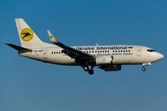 Ουκρανία το διεθνές Boeing 737 Στοκ Εικόνες