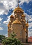 Ουκρανία, Khartsizk Ορθόδοξη Εκκλησία του ιβηρικού εικονιδίου Στοκ φωτογραφία με δικαίωμα ελεύθερης χρήσης