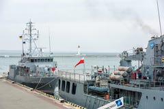 Ουκρανία, Odesa - 18 Μαρτίου, 2017: Στα στρατιωτικά σκάφη λιμένων της Οδησσός Στοκ Φωτογραφία