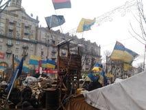Ουκρανική αξιοπρέπεια Euromaidan επαναστάσεων Στοκ εικόνα με δικαίωμα ελεύθερης χρήσης