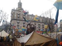Ουκρανική αξιοπρέπεια Euromaidan επαναστάσεων Στοκ Εικόνα