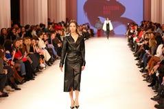 Ουκρανική εβδομάδα FW18-19 μόδας: συλλογή από την Κατερίνα KVIT Στοκ Εικόνες