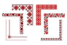 Ουκρανική διακόσμηση κεντητικής ελεύθερη απεικόνιση δικαιώματος