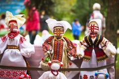 Ουκρανική κούκλα κούκλα-motanka ή κουρελιών γεμισμένα παιχνίδια Στοκ φωτογραφία με δικαίωμα ελεύθερης χρήσης