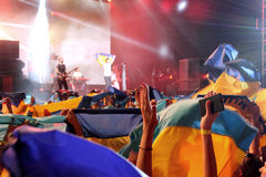 Ουκρανική σημαία στοκ φωτογραφίες με δικαίωμα ελεύθερης χρήσης