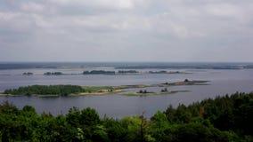 Ουκρανική του χωριού άποψη του ποταμού Dnieper απόθεμα βίντεο