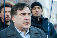 Ουκρανικός και πρώην της Γεωργίας πολιτικός Mikheil Saakashvili Στοκ εικόνα με δικαίωμα ελεύθερης χρήσης