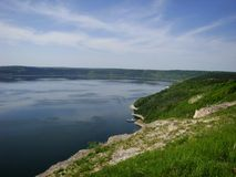 Ουκρανικός ποταμός Dnister Στοκ Φωτογραφίες