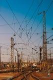 Ουκρανικός σιδηρόδρομος Σιδηροδρομικός σταθμός επιβατών Kharkiv Στοκ Φωτογραφία