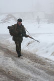 Ουκρανικός στρατιώτης Στοκ Εικόνες