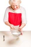 Ουκρανικός varenyky μαγειρέματος με τα κεράσια Serie Στοκ εικόνες με δικαίωμα ελεύθερης χρήσης