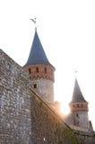 Ουκρανικό μεσαιωνικό φρούριο όψη της πόλης Ουκρανίας podilskyi κάστρων kamianets παλαιά Άποψη επάνω Στοκ φωτογραφίες με δικαίωμα ελεύθερης χρήσης