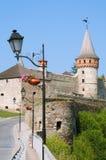 Ουκρανικό μεσαιωνικό φρούριο όψη της πόλης Ουκρανίας podilskyi κάστρων kamianets παλαιά Στοκ Εικόνες