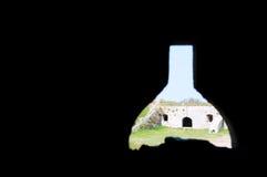 Ουκρανικό μεσαιωνικό φρούριο όψη της πόλης Ουκρανίας podilskyi κάστρων kamianets παλαιά Άποψη επάνω Στοκ Εικόνες