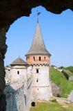 Ουκρανικό μεσαιωνικό φρούριο όψη της πόλης Ουκρανίας podilskyi κάστρων kamianets παλαιά Στοκ εικόνα με δικαίωμα ελεύθερης χρήσης