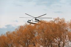 Ουκρανικό στρατιωτικό ελικόπτερο mi-8 Στοκ Φωτογραφίες