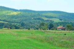 Ουκρανικό χωριό στα Καρπάθια βουνά Στοκ φωτογραφίες με δικαίωμα ελεύθερης χρήσης