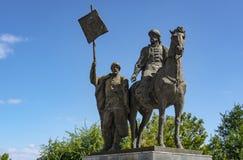 Ουλιάνοφσκ, Ρωσία - 10 Αυγούστου 2018: Μνημείο στο Khitrovo Bogdan - ιδρυτής της πόλης Simbirsk στοκ φωτογραφία με δικαίωμα ελεύθερης χρήσης