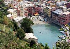 ΟΥΝΕΣΚΟ παγκόσμιων κληρονομιών της ΟΥΝΕΣΚΟ Cinque Terre Vernazza Στοκ Εικόνες