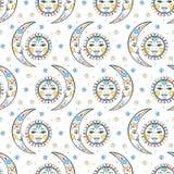 Ουράνιο κομψό σχέδιο boho Στοκ εικόνες με δικαίωμα ελεύθερης χρήσης