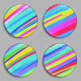 Ουράνιο τόξο έγχρωμη εικονογράφηση κουμπιών το χαρτοφυλάκιό μου στη διανυσματική υποδοχή Τρισδιάστατα κουμπιά ουράνιων τόξων διάν διανυσματική απεικόνιση