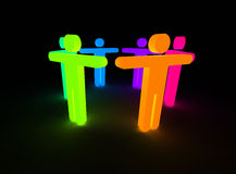 ουράνιο τόξο ανθρώπων Στοκ εικόνα με δικαίωμα ελεύθερης χρήσης