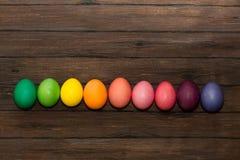 Ουράνιο τόξο από τα αυγά Πάσχας Στοκ φωτογραφία με δικαίωμα ελεύθερης χρήσης