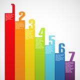 ουράνιο τόξο αριθμών εμβλημάτων Στοκ Εικόνες