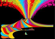 ουράνιο τόξο Βεζούβιος τ διανυσματική απεικόνιση