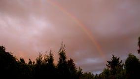 Ουράνιο τόξο ηλιοβασιλέματος Στοκ φωτογραφίες με δικαίωμα ελεύθερης χρήσης