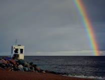 Ουράνιο τόξο και γρήγορο Ñ ‹Ð ² ακτών Στοκ Εικόνες