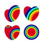 ουράνιο τόξο καρδιών απεικόνιση αποθεμάτων