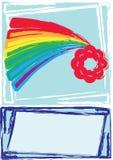 ουράνιο τόξο καρτών Στοκ εικόνα με δικαίωμα ελεύθερης χρήσης