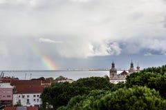 Ουράνιο τόξο Λισσαβώνα Πορτογαλία Στοκ Φωτογραφίες