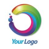 ουράνιο τόξο λογότυπων κύκλων Στοκ Εικόνες