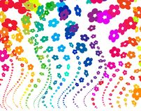 ουράνιο τόξο λουλουδιώ Στοκ φωτογραφίες με δικαίωμα ελεύθερης χρήσης