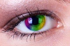 ουράνιο τόξο ματιών Στοκ εικόνα με δικαίωμα ελεύθερης χρήσης