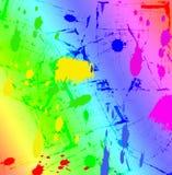 ουράνιο τόξο μελανιού splatter Στοκ Φωτογραφίες