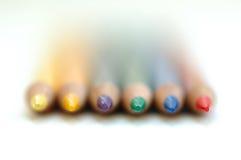 ουράνιο τόξο μολυβιών στοκ εικόνα
