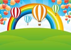ουράνιο τόξο μπαλονιών Στοκ εικόνες με δικαίωμα ελεύθερης χρήσης