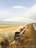 Ουράνιο τόξο πέρα από τη λίμνη Washoe Στοκ Φωτογραφίες