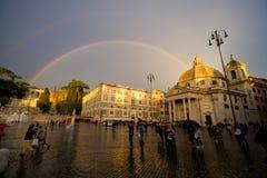 Ουράνιο τόξο πέρα από τη Ρώμη Στοκ Εικόνες