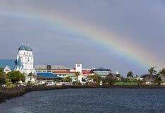 Ουράνιο τόξο πέρα από τον Ειρηνικό Στοκ εικόνες με δικαίωμα ελεύθερης χρήσης