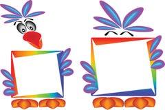 ουράνιο τόξο παπαγάλων εμβλημάτων Στοκ εικόνες με δικαίωμα ελεύθερης χρήσης