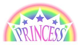 ουράνιο τόξο πριγκηπισσών κορωνών ελεύθερη απεικόνιση δικαιώματος