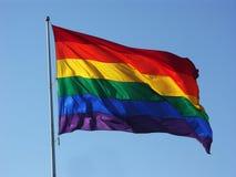 ουράνιο τόξο σημαιών Στοκ φωτογραφίες με δικαίωμα ελεύθερης χρήσης