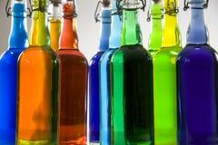 Ουράνιο τόξο στα μπουκάλια Στοκ εικόνα με δικαίωμα ελεύθερης χρήσης