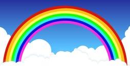 Ουράνιο τόξο στα σύννεφα ένα υπόβαθρο φυσικό απεικόνιση αποθεμάτων