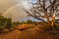 Ουράνιο τόξο στην έρημο Canyonlands, ΗΠΑ στοκ εικόνες