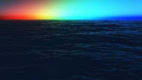 Ουράνιο τόξο στην ακτή της θάλασσας ελεύθερη απεικόνιση δικαιώματος